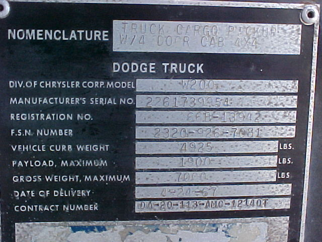 Old Dodge Trucks >> 67 W200 Dodge Crew Cab Power Wagon