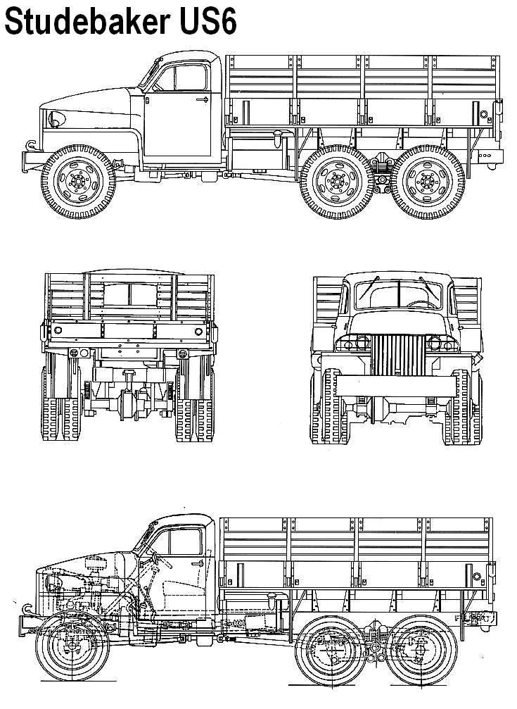 studebaker us6 6x6 ww2 cargo